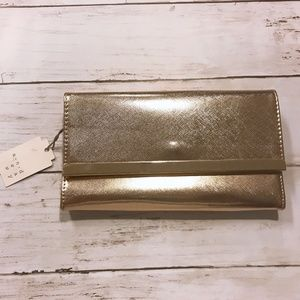 A New Day Gold Metallic Wallet Trifold